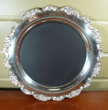 Vintage Chalk Board Menu Board Silverplate Tray Platter 15""