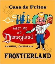 1955 Disneyland Store Counter Advertising Standup Sign Repro Casa De Fritos