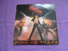 "Judas Priest - Unleashed In The East, Live In Japan LP W/BONUS 7"" 1979 CBS"