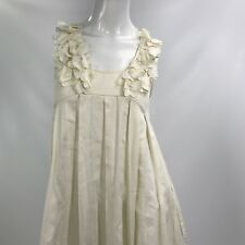 The Garden Collection by H&M Women's Dress Organic Ivory Cotton Sleeveless 4