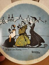 """""""When In Rome"""" Norman Rockwell Collector Plate"""