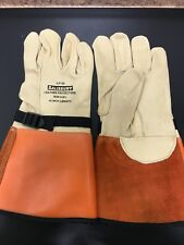 "Salisbury Honeywell ILP-5S Leather Protectors Glove Cowhide 14"" Size: 8-8 1/2"""