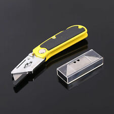 Mini Folding Lock Back Utility Knife Blade More ABS Handle Quick Change