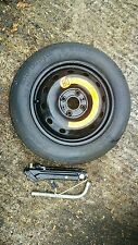 """FIAT QUBO 2010-2017 SPACE SAVER 14"""" SPARE WHEEL & TYRE, JACK AND SPANNER KIT"""