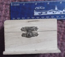 New, Unfinished Small Wood Hinged Hope orTreasure Chest Novelty Box with charms