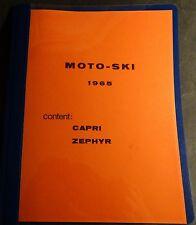 VINTAGE 1965 MOTO-SKI CAPRI &  ZEPHYR SNOWMOBILE PARTS MANUAL (804)