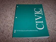 2003-2004 Honda Civic Hybrid Electrical Wiring Diagram Manual CVT