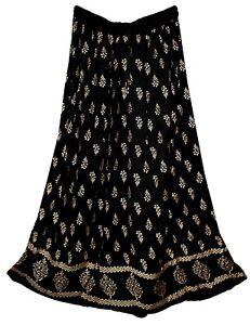 Rayon Skirt Indian Gypsy Retro Women Ehs Jupe Hippy Boho Falda Kjol Vintage Look