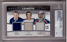 JOHNNY BOWER ED GIACOMIN PATRICK ROY 14/15 ITG Ultimate Goalie Legacy Jersey /15