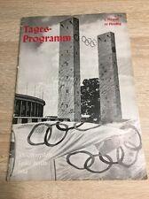 Tagesprogramm XI. Olympische Spiele Berlin 1936, 1. August