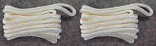 "(2) WHITE Double Braided 3/8"" x 20' HQ Boat Marine DOCK LINES Mooring Rope Cord"