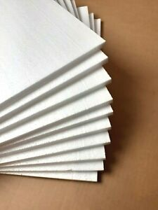 300mmx400mmx10mm 10off EPS Foam Sheets MDF Grade, ideal for modelling & crafting