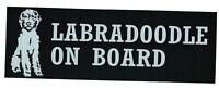 LABRADOODLE ON BOARD dog vinyl sticker decal for car window bumper
