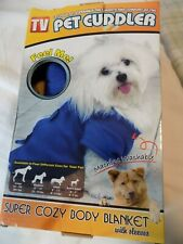 Pet Cuddler Royal Blue Body Blanket with Sleeves for Dog ~ Size Small ~ New