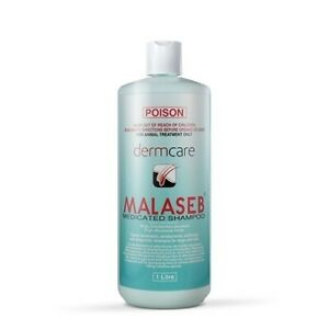 Malaseb Medicated Pet Shampoo & Antifungal Treatment for Cats & Dogs - 1 litre