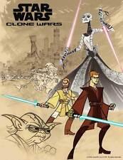 STAR WARS: CLONE WARS Movie POSTER 27x40 B Corey Burton Anthony Daniels John Di