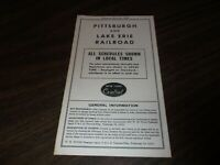 APRIL 1965 P&LE PITTSBURGH & LAKE ERIE NYC SYSTEM PUBLIC TIMETABLE
