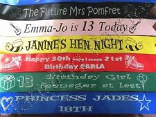 Personalised Hen Party Night  Ribbon Birthday Banner