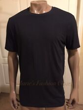 "XL 45"" - 48"" Tommy John Cotton Basics Crew Neck Cotton Spandex T-Shirt Black"