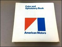 1971 AMC Data Book Brochure - Paint and Fabric Album AMX Gremlin Javelin Hornet