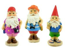 Traveling Gnome set of 3 asst Mi 55780 Miniature Fairy Garden Dollhouse