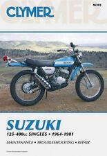 Clymer Repair Service Shop Manual Vintage Suzuki TC/TM/TS/RL 125 250 400