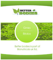 Ginkgo Biloba 6000mg Tablets ONE a Day HIGH Strength Made In UK