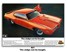 1969 Pontiac GTO The Judge Can Be Bought Poster 13x19 Ad Art Print Ram Air '69