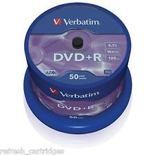 VERBATIM DVD+R RECORDABLE MEDIA 50 PACK SPINDLE CAKE /  16X SPEED / 4.7GB 43550