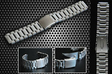 Stainless Steel Wristwatch Strap 24 mm with Folding Clasp New