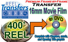 Convert 16mm film to DVD - Silent or Sound  (price per 400 ft)