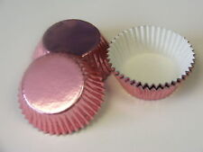 50 x high quality PALE PINK Foil Bun Fairy Cake cases