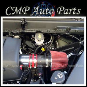 RED 2007-2011 GMC ACADIA DENALI SL SLE SLT 3.6 3.6L V6  AIR INTAKE KIT