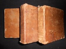 Italian/English/French Pocket Dictionary 1777-1st, F Bottarelli (Full 3 Vol Set)