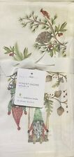 Pottery Barn Forest Gnome Mixed Linen/Cotton Napkins Set/4
