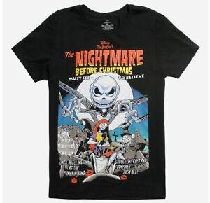 Jack Skellington The Nightmare Before Christmas Vintage Movie Poster T-Shirt New