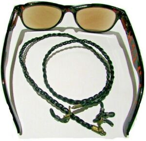 """Braided Leather Eye Glasses Lanyard  (24"""") with 2 spare end connectors"""