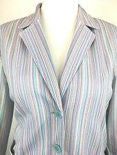 Finnkarelia Pinstriped Candy Stripe Womans Blazer Jacket Size UK 12 fun blazer