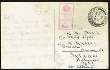 1919 PPC Cologne Cathedral to Bexleyheath Censor 7366 BEF MAIN LINE T.P.O.DOWN