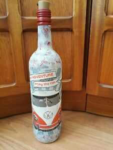 VW CAMPERVAN DECOUPAGE BOTTLE LAMP LED LIGHT BIRTHDAY GIFT