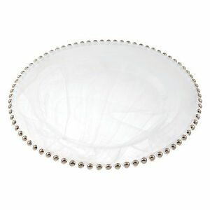 Badash - Beaded Rim Charger, Silver (D147S)