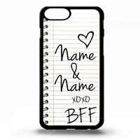 BFF best friends notebook handwriting personalised name gift phone case cover
