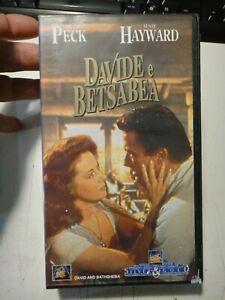 "VHS "" DAVIDE E BETSABEA - GREGORY PECK SUSAN HAYWARD"