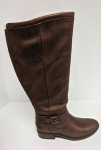 BareTraps Yvonna2 Riding Boots, Brown, Women's 6 M (Wide Calf)