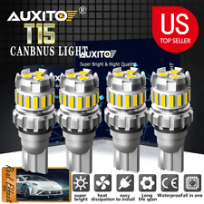 4X AUXITO Canbus 912 921 T15 W16W White LED Bulb For Car Backup Reverse Light