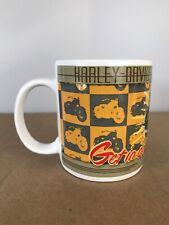 Harley Davidson 1953 74 OHV FL Model Coffee Mug Tea Cup Panhead Vtg Good Times