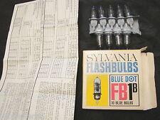 9 flash a bulbo per polaroid vintage Sylvania flashbulbs blue dot FB1 b tabella