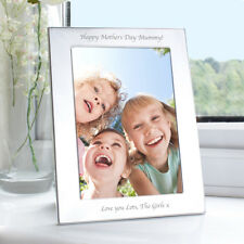 Personalised S/Plated Portrait Photo Frame 4 x 6 Mum Mummy Nan Mothers Day Gift