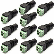 10x DC Power Socket Adapter Female 5.5mm x 2.1mm for CCTV Camera