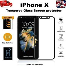 For iPhone 10 X Screen Protector REAL Glass 9H Hardness Full 3D Coverage BLACK